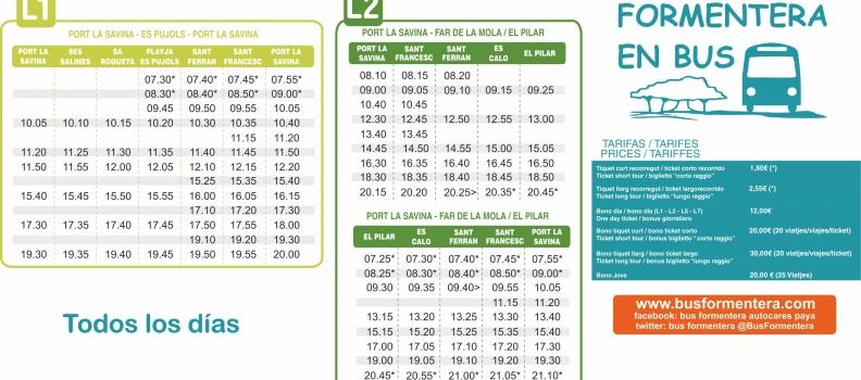 Horarios a partir del 15 de Octubre 2017